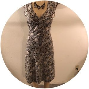 Byer Too! Dresses - Dark Cream and Black Form Fitting Dress